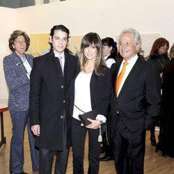 Palomo Linares con su hijo Miguel Palomo y su nuera Marta González