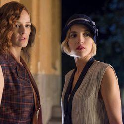 Ana Polvorosa y Ana Fernández en una escena de 'Las chicas del cable'