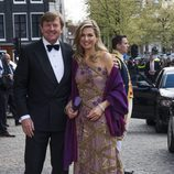El Rey Guillermo de Holanda en la cena de gala por su 50 cumpleaños con la Reina Máxima de Holanda