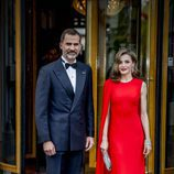 Los Reyes Felipe y Letizia en el 50 cumpleaños del Rey Guillermo de Holanda
