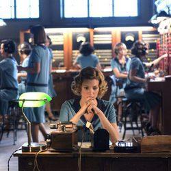 Maggie Civantos durante una jornada de trabajo en 'Las chicas del cable'