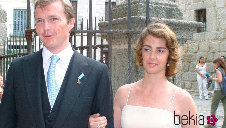 Pedro Borbón Dos Sicilias con su  mujer Sofía Landaluce