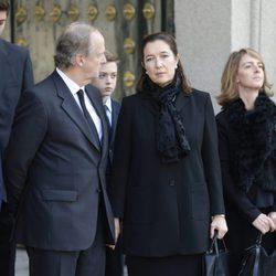 María Borbón Dos Sicilias durante el funeral de su padre, el duque de Calabria