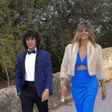 Arancha de Benito y Agunstin Etienne en la boda de Fonsi Nieto y Marta Castro en Ibiza