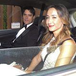 Miguel Abellán y su novia en la boda de Fonsi Nieto y Marta Castro en Ibiza