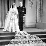 Foto oficial de la boda de la Reina Isabel y el Duque de Edimburgo en 1947