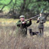 El Duque de Edimburgo cazando