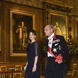 El Duque de Edimburgo y Carla Bruni