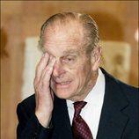 El Duque de Edimburgo, emocionado