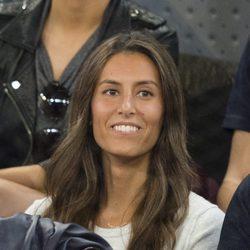 Ana Boyer apoya a Fernando Verdasco durante su partido de tenis