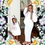 Beyoncé posa embarazada con su hija Blue Ivy