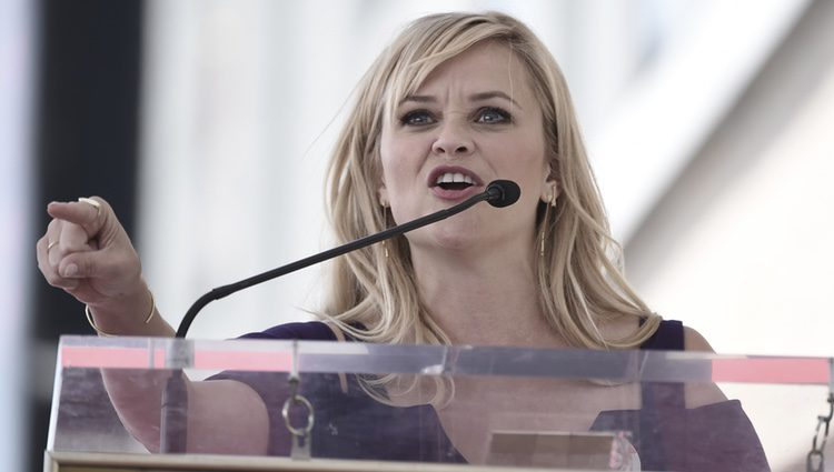 Reese Witherspoon en la ceremonia en honor a Goldie Hawn y Kurt Russell
