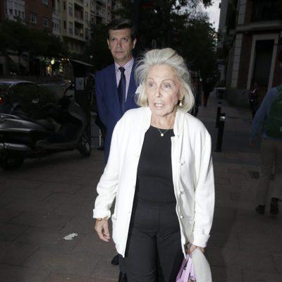 Beatriz de Orleans en el funeral de Palomo Linares