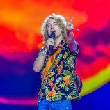 Manel Navarro en los ensayos del Festival de Eurovisión 2017