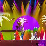 La puesta en escena de Manel Navarro en el Festival de Eurovisión 2017