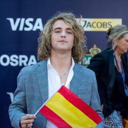 Manel Navarro en la alfombra roja de inauguración del Festival de Eurovisión 2017