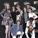 El elenco de 'Stranger Things' en los MTV Movie Awards 2017
