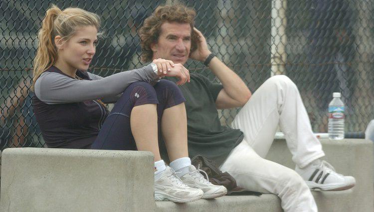 Fernando Sartorius y Elsa Pataky en un entrenamiento