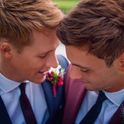 Tom Daley y Dustin Lance Black muy tiernos
