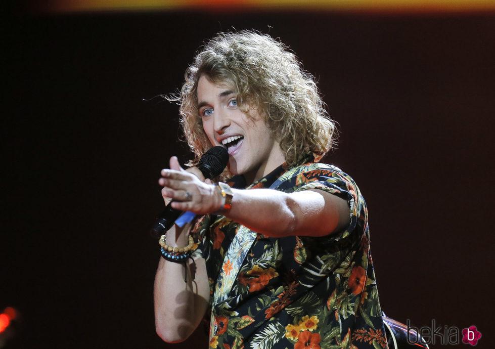 Manel Navarro durante los ensayos de Eurovisión 2017