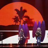 Puesta en escena de Manel Navarro en el Festival de Eurovisión 2017