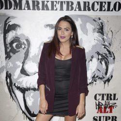 Amor Romeira en la inauguración de un food market en Madrid