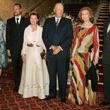 Los Reyes Juan Carlos y Sofía con los Reyes Harald y Sonia de Noruega y los Príncipes Haakon y Mette-Marit de Noruega