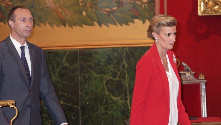 Alfonso y María Zurita en la entrega a la Infanta Margarita de la Medalla de Oro de la Real Academia Nacional de Medicina