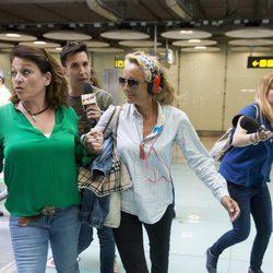 Lucía Pariente vuelve a España tras su paso por 'Supervivientes 2017'