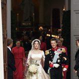 Federico y Mary de Dinamarca en su boda