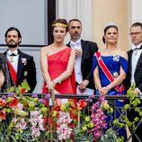 La Famlia Real Sueca en el 80 cumpleaños de Harald y Sonia de Noruega