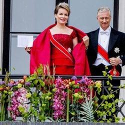 Felipe y Matilde de Bélgica en el 80 cumpleaños de Harald y Sonia de Noruega