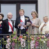 Los Reyes de Suecia, los Reyes de Holanda y Astrid de Noruega en el 80 cumpleaños de Harald y Sonia de Noruega
