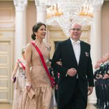 Alberto de Monaco y Mary de Dinamarca en una cena de gala por el 80 cumpleaños de los Reyes de Noruega