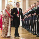 Beatriz de Holanda y Federico de Dinamarca en una cena de gala por el 80 cumpleaños de los Reyes de Noruega
