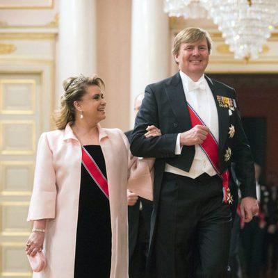 María Teresa de Luxemburgo y Guillermo Alejandro de Holanda en una cena de gala por el 80 cumpleaños de los Reyes de Noruega