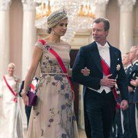 Máxima de Holanda y Enrique de Luxemburgo en una cena de gala por el 80 cumpleaños de los Reyes de Noruega