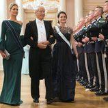 Tatiana de Grecia y Sofia Hellqvist en una cena de gala por el 80 cumpleaños de los Reyes de Noruega