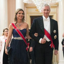 Marta Luisa de Noruega y Felipe de Bélgica en una cena de gala por el 80 cumpleaños de los Reyes de Noruega