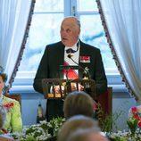 Harald de Noruega pronuncia un discurso por su 80 cumpleaños