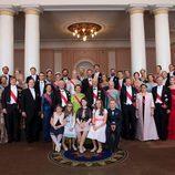 La realeza europea en el 80 cumpleaños de Harald y Sonia de Noruega