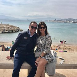 María José Suárez y Jordi Nieto durante sus vacaciones en Cannes