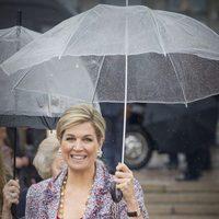 La reina Máxima de Holanda en el 80 cumpleaños de Harald y Sonia de Noruega