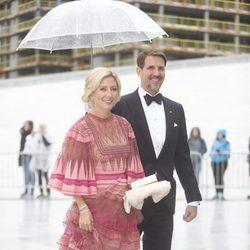 Pablo y Marie Chantal de Grecia en la cena en honor a los Reyes de Noruega por su 80 cumpleaños