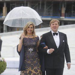 Guillermo Alejandro y Máxima de Holanda en la cena en honor a los Reyes de Noruega por su 80 cumpleaños