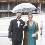 Guillermo y Estefanía de Luxemburgo en la cena en honor a los Reyes de Noruega por su 80 cumpleaños