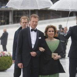 Enrique y María Teresa de Luxemburgo en la cena en honor a los Reyes de Noruega por su 80 cumpleaños