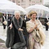 Margarita de Dinamarca y Ana María de Grecia en la cena en honor a los Reyes de Noruega por su 80 cumpleaños