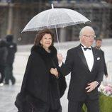 Carlos Gustavo y Silvia de Suecia en la cena en honor a los Reyes de Noruega por su 80 cumpleaños