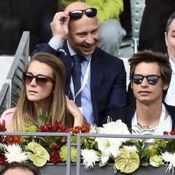 Carlos Baute y su mujer Astrid Klisans en el Open de Madrid 2017